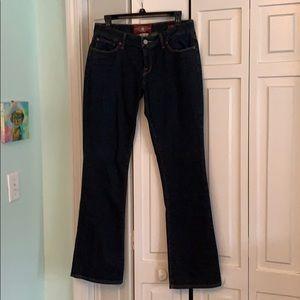Dark wash boot cut Lucky jeans